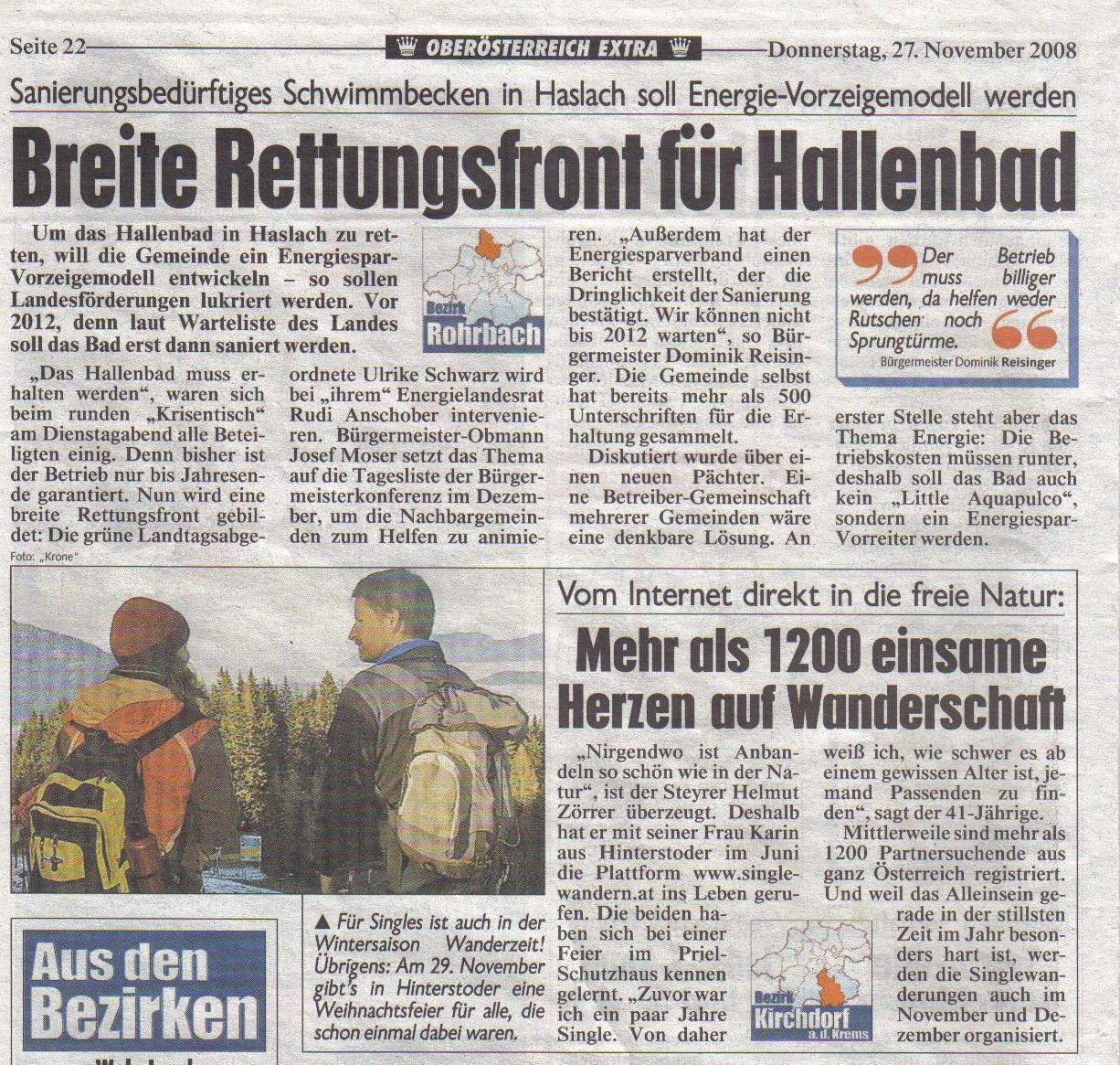 26. Oktober: Singlewanderung auf die Hoisnradalm